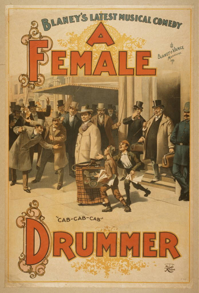 Blaney's latest musical comedy, A female drummer