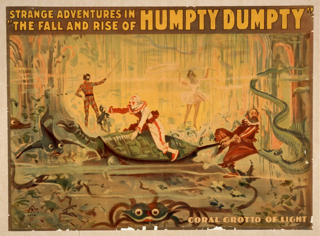 Strange adventures in The fall and rise of Humpty Dumpty