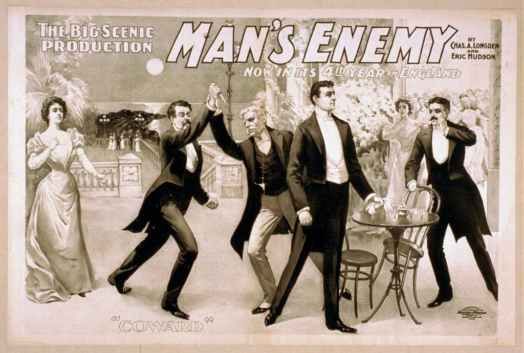 The big scenic production, Man's enemy by Chas. A. Longdon and Eric Hudson : now in its 4th year in England.