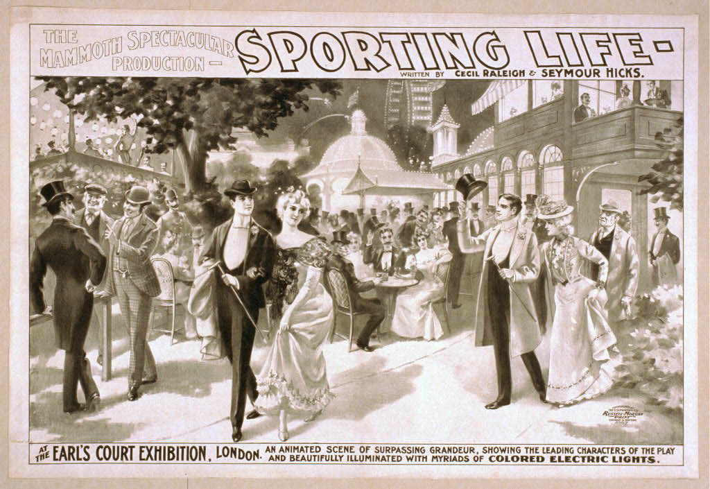 The mammoth spectacular production, Sporting life written by Cecil Raleigh & Seymour Hicks.