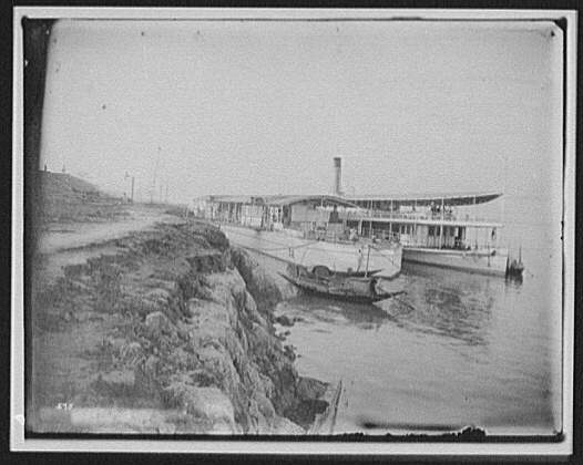 Two river steamers at Saraghat (?) on the Ganges