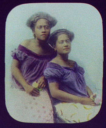 N. Africa (?) two women posed with flowers