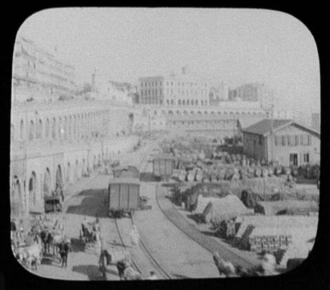 Algiers - depot and station grounds of Algerian Railway