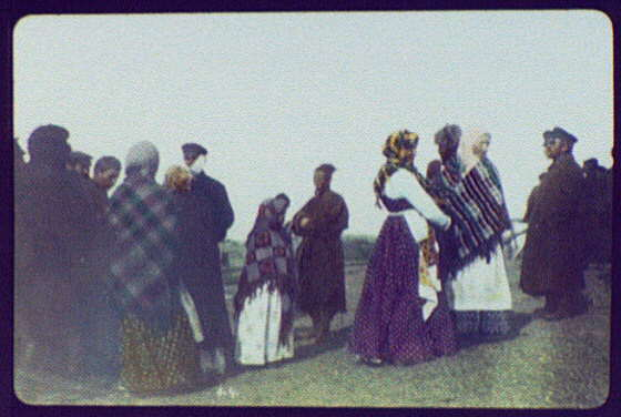 Russian men and women at Iman (?)