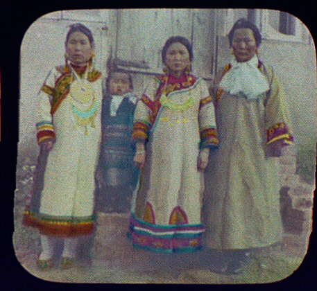 Wives of Goldi chiefs in their best clothes