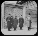 Convict prison guards at gate of building - Khabarovsk