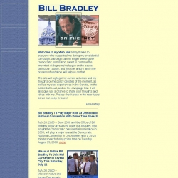 Official Campaign Web Site - Bill Bradley