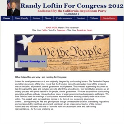 Official Campaign Web Site - Joseph R. 'Randy' Loftin
