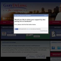 Official Campaign Web Site - Gary Delong