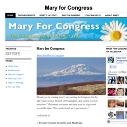 Official Campaign Web Site - Mary Baechler