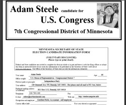 Official Campaign Web Site - Adam Steele
