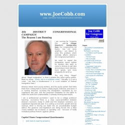 Official Campaign Web Site - Joe Cobb