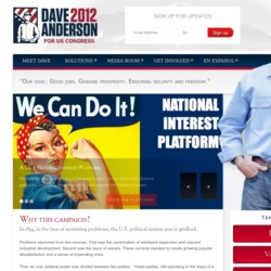 Official Campaign Web Site - David C. Anderson