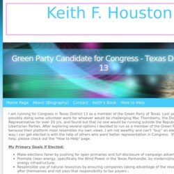 Official Campaign Web Site - Keith F. Houston