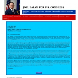 Official Campaign Web Site - Joel Balam
