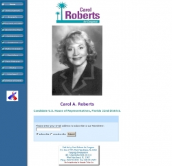 Official Campaign Web Site - Carol Roberts