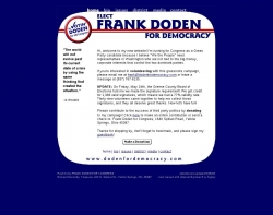 Official Campaign Web Site - Frank Doden