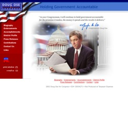 Official Campaign Web Site - Doug Ose