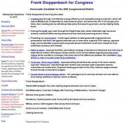 Official Campaign Web Site - Frank Stoppenbach