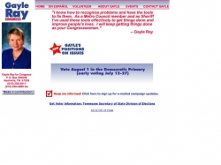 Official Campaign Web Site - Gayle Ray