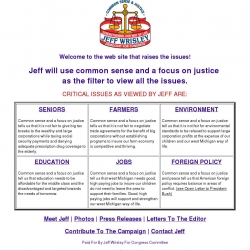 Official Campaign Web Site - Jeff Wrisley