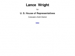 Official Campaign Web Site - Lance Wright