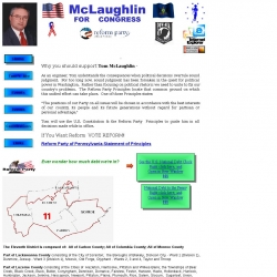 Official Campaign Web Site - Tom McLaughlin