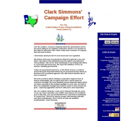 Official Campaign Web Site - Clark Simmons