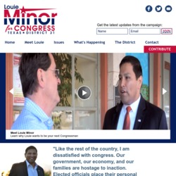 Official Campaign Web Site - Louie Jr. Minor