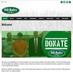Official Campaign Web Site - William W. 'Bill' Bailey