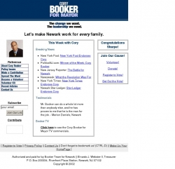 Official Campaign Web Site - Cory Booker