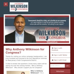 Official Campaign Web Site - Anthony E. Wilkinson
