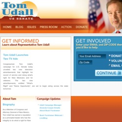 Official Campaign Web Site - Tom Udall