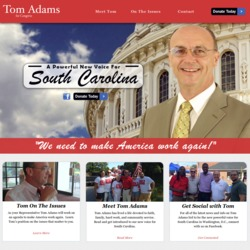 Official Campaign Web Site - Thomas A. 'Tom' Adams