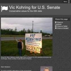 Official Campaign Web Site - Vic Kohring