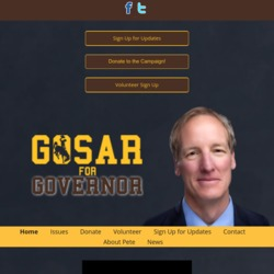 Official Campaign Web Site - Pete Gosar