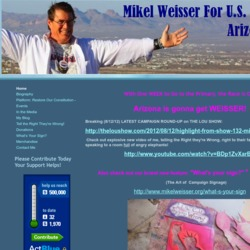Official Campaign Web Site - Mikel L. Weisser