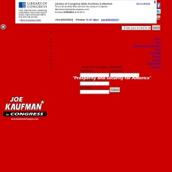 Official Campaign Web Site - Joe Kaufman