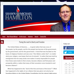 Official Campaign Web Site - Shawn Michael Hamilton