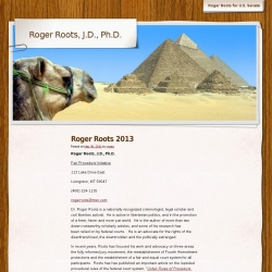 Official Campaign Web Site - Roger Roots
