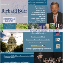 Member of Congress Official Web Site - Richard Burr
