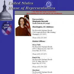 Member of Congress Official Web Site - Stephanie Herseth Sandlin