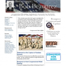 Member of Congress Official Web Site - Bob Beauprez