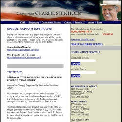 Member of Congress Official Web Site - Charles W. Stenholm
