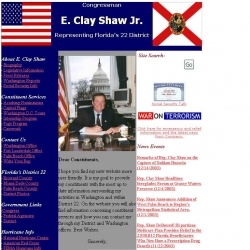 Member of Congress Official Web Site - E. Clay Shaw Jr.