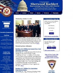 Member of Congress Official Web Site - Sherwood Boehlert