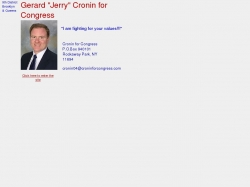 Official Campaign Web Site - Gerard Cronin