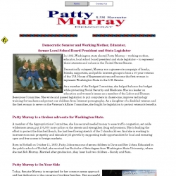 Official Campaign Web Site - Patty Murray