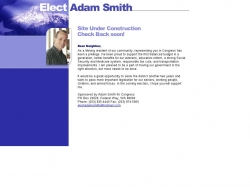 Official Campaign Web Site - Adam Smith