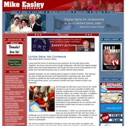 Official Campaign Web Site - Mike Easley